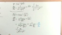 Derivatives of Inverse Trigonometric Functions