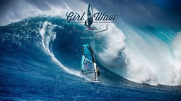 Girl on Wave - Professional Windsurfer Sarah Hauser